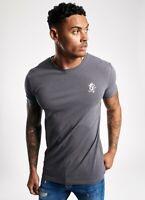 Gym King Mens New Short Sleeve Crew Neck Origin T-Shirt Dark Grey