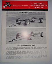 Massey Ferguson MF 7 & 8 Running Gear Product Information Sales Manual Catalog