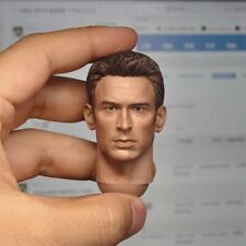 Customized 1/6 Chris Evans Head Sculpt Captain America Head Fit HT COO Body