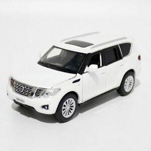 1:32 Nissan Patrol Y62 SUV Model Car Diecast Toy Vehicle Pull Back Cars White