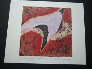 """Joyce Markie, Mixed Media Etching, """"The Spindrift Suite, Unease and Suspicion"""""""