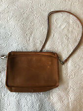 Brown Vintage Leather Satchel, Excellent Condition, Made in USA.