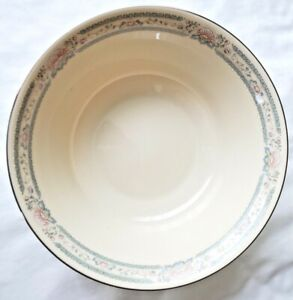 "Lenox Charleston 9.25"" Round Porcelain Vegetable Serving Bowl-Platinum Trim"
