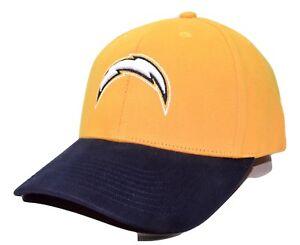 San Diego LA Chargers NFL Team Apparel Yellow & Blue Adjustable Football Cap Hat