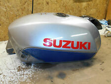 suzuki gs750e gs750es fuel gas petrol tank silver  83 1983 gs750