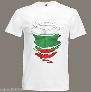 Bulgarian Flag T-Shirt see Muscles through Ripped T-Shirt BulgariaSize S - XXXL
