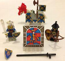 ✿ RARE LEGO KNIGHT HORSE MINIFIGURE SHIELD FLAG REVOLVING CASTLE WINDOW DOOR SET