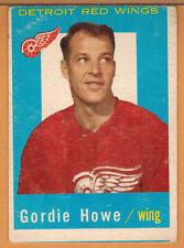 1959-60 , TOPPS , GORDIE HOWE , CARD #63