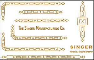 Singer Featherweight 221K  222 Sewing Machine Restoration Decals
