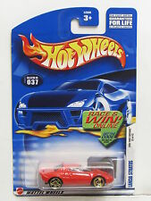 HOT WHEELS 2002  FIRST EDITIONS #037 LANCIA STRATOS RED ERROR  WHEELS