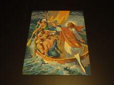VINTAGE > JESUS SEA OF GALILEE VINTAGE PAINT-BY-NUMBER PAINTING,CIRCA 1960s...