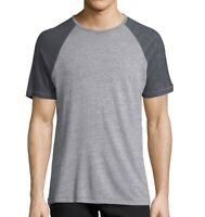 John Varvatos Star USA Men's Short Sleeve Raglan Crew Neck T-Shirt Heather Grey