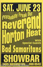 Reverend Horton Heat 1990 Showbar Houston Original Concert Poster Yellow