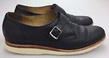 Frye Black Leather Single Monk Strap Fashion Sneakers Women's 9 B Buckle 3474570