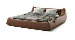 Designer Bed Double Beds Modern Hotel Leather Fabric Double Bed 180x200cm New