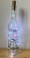 16th 18th 21st 30th 40th 50th 60th Personalised Birthday Light Up Bottle Gift