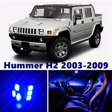 14pcs LED Blue Light Interior Package Kit for Hummer H2 2003-2009