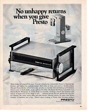 1968 ORIGINAL VINTAGE PRESTO APPLIANCES MAGAZINE AD