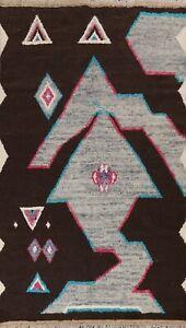 Moroccan Geometric Oriental Area Rug Handmade Plush Wool Dark Brown Carpet 6x10