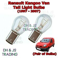 Renault Kangoo Tail Light Bulbs Pair of Rear Tail Light Bulb Lights Van (97-07)