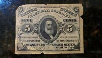 1863 Fractional Currency 5 Five Cents 3rd Issue 1864-1869 . Solid AU. LOOK!