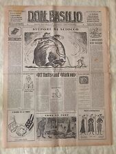 Don Basilio n.5 - 29 gennaio 1950 settimanale satirico d'opposizione