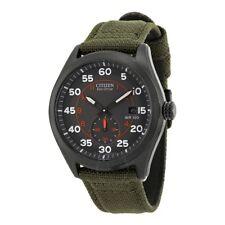 CITIZEN Eco Drive Black Dial Green Nylon Strap Men's Watch BV1085-22H MILITARY