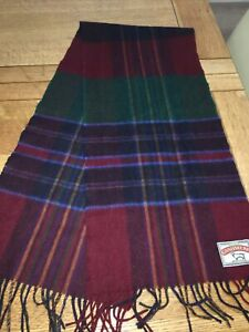 Checked red and blue winter scarf, unbranded, 100% cashmere