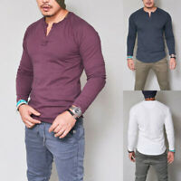 Cool Men's Style Slim Long Sleeve Singlets Muscle Tee T-shirt Casual Tops Blouse