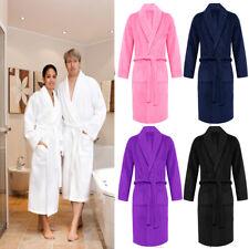 Unisex LUXURY Terry Towelling Shawl Collar Bath robe Dressing Gown SPA Swim