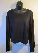 Women's BANANA REPUBLIC Black Thin Silk Blend Sweater Size L