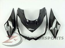 2010-2013 Kawasaki Z1000 Front & Side Upper Nose Fairing Cowl 100% Carbon Fiber
