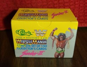 1990 WWF WRESTLEMANIA series II Trading Cards Box 150 cards...FACTORY SEALED NEW