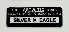 ASTATIC D-104 SILVER K EAGLE MICROPHONE LABEL FOR RESTORATION.