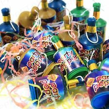 40Pc Assorted Colourful Party Poppers Celebration Fun New Years / Fancy Dress