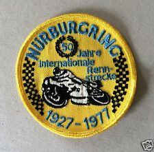 Vintage Sew-on Patch Nurburgring 50 Years International Race Track, Motorcycle