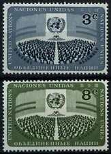 United Nations New York 1956 SG#45-6 UN Day MNH Set #D62718