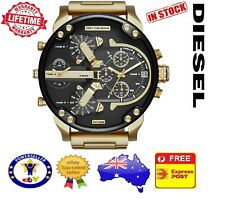 DIESEL DZ7333 MR DADDY 2.0 Gold Multiple Time Zone Chronograph Mens Watch