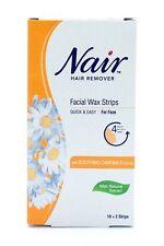 NAIR 12 WAX STRIPS WAXING FACIAL HAIR REMOVAL CAMOMILE