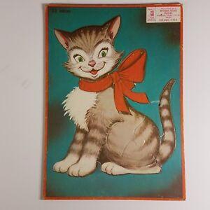 Vintage Midcentury Kitschy Kitten Puzzle Milton Bradley 10 x 14