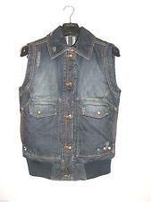 Button Denim Coats & Jackets Gilet for Women