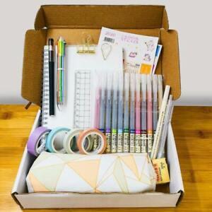 Bullet Journal Starter Kit - Spiral Dotted Notebook, Pens, Calendar & Washi Tape