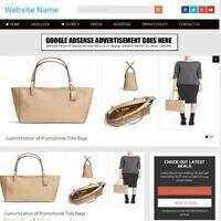 HANDBAG STORE -  Make Money From Home - Website Business For Sale + Domaon