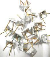 10 NVA Sterne Silber Pickel  Schulterstücke Ähnl Wehrmacht Uniform Effekten