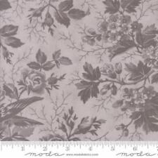 Moda 3 Sisters Quill Floral Bird Toile Fabric in Tonal Feather Grey 44151-22