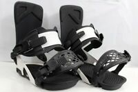 Ride LTD Snowboard Bindings Large Men's US Size 8-12 Black / Off White - 59890