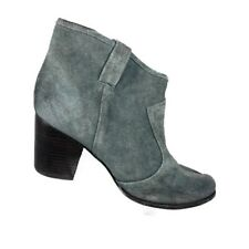 Splendid Lakota Booties Size 9 Gray Suede Stacked Heel Ankle Boots Pull On