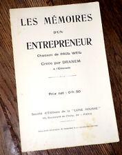 les mémoires d'un entrepreneur texte seul chanson Paul Weill La Lune Rousse