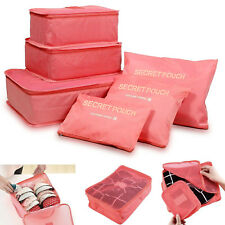 Compression Packing Cubes Travel Luggage-Organizer Set Packs More in Less Space