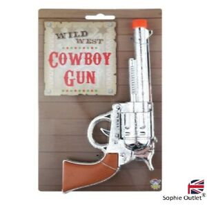 Cow Boy Plastic Gun Pistol Wild West Costume Outfit Fancy Dress Item Cow Girl